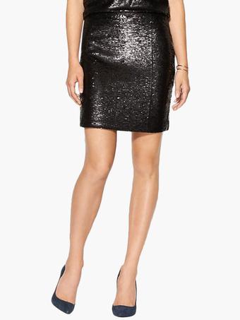 Black Sequined Mini Skirt