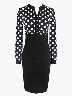 Polka Dot V-neck Vintage Dress