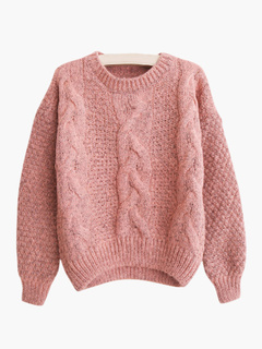 Knitted Woven Long Sleeve Pullovers