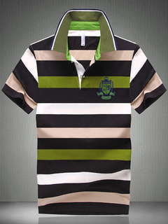 Smart Green Cotton Short Sleeves Polo Shirt
