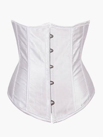 Women's New White Lycra Spandex Bustier