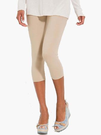 Women's Solid Color Comfy Cotton Cropped Leggings