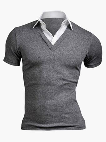 Smart Cotton Short Sleeves Mens Polo Shirt