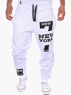 Smart Printed Cotton Sweatpants Men's Pants