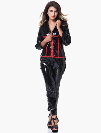 Black Glitter Two-Tone Polyester Fashion Romper