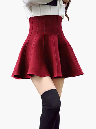 Fashion Ruffles Cotton Blend Woman's Skirt