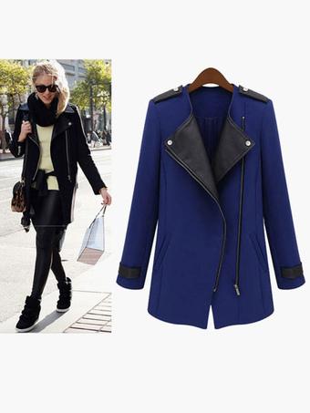 Zipper Outerwear For Woman