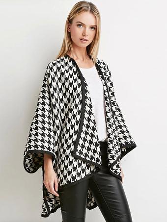Poncho Knitwear Women Oversized Sweater Cape Coat