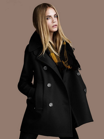 Women Peacoat Women Trench Coat Long Sleeve Winter Coat