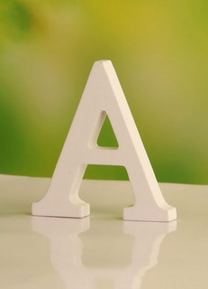 White Wood Letter Wedding Decorations (from A-Z)