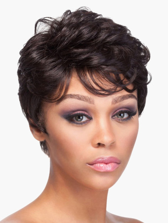 Curly Short Human Wigs For Women