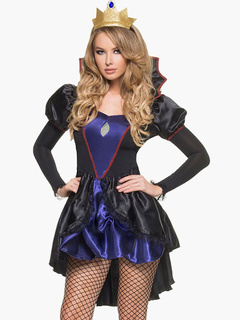 Black Tiered Polyester Sexy Bedroom Costume for Women