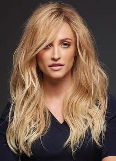 Light Gold Curly Women's Long Wig