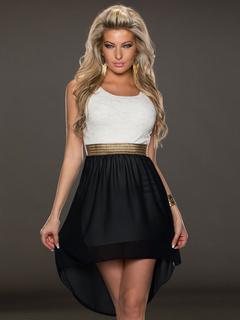 Multicolor Lace Chiffon Club Dress for Women