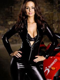 37ba8424e Black Motorcycle Zipper PU Costume for Women