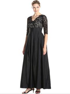 Plus Size abito nero stampa pizzo Chic Maxi abito per le donne 8cac12eb15c