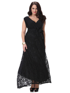 Plus Size Dress Black Lace Chic Maxi Summer Dress For Women