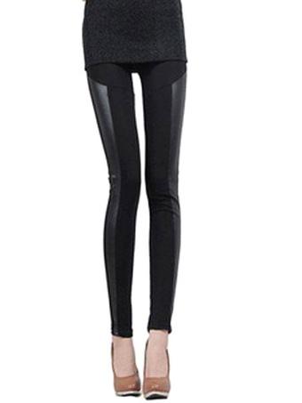 Black Spandex Slim Fit Leggings for Women