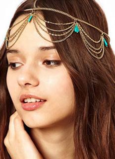 Gold Boho Trendy Metal Hair Accessory for Women