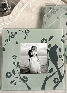Multicolor Glass Photo Frame Coaster Wedding Favors
