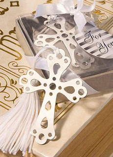 Silver Cross Chic Stainless Steel Bookmark Wedding Favors