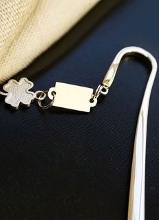 Gold Stainless Steel Bookmark Wedding Favors