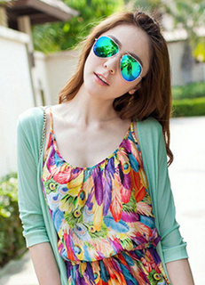 Green Chic Street Wear Casual Glasses for Women