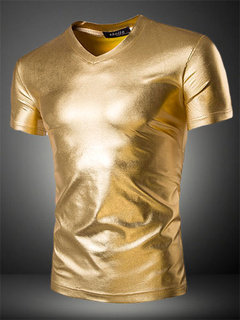 Gold Shaping Cotton T-Shirt for Men