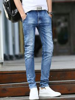 Blue Denim Casual Jeans for Men