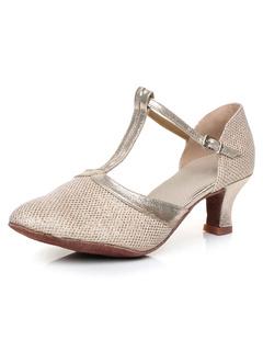 55e192095 Dança Latina prata sandálias sandálias Glitter de cintas para as mulheres