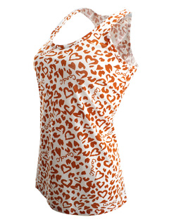Multicolor Camis Straps Print Polyester Tank for Women