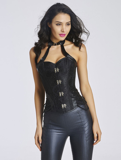 Black Backless Corsets Straps Sexy Bustier for Women