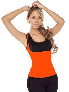 Hot Sale Shapewear Dark Orange Athletic Shaping Jacket With Side Zip Closure For Women