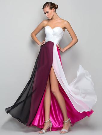 1d3444503d2f Vestito chiffon dalla spalla senza bretelle del vestito dal maxi di colore  del vestito