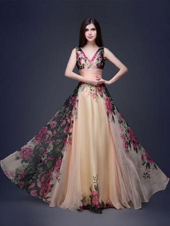 Vestiti lunghi fantasia floreale