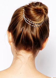 Two-Tone Pearl Hairpin Layered Metal Hair Accessories