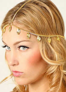 Gold Fringe Headband Metal Hair Accessories