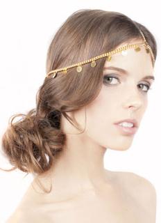 Gold Headband Fringe Chain Metal Hair Accessories