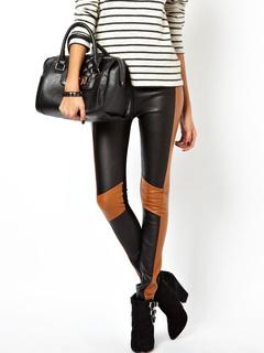 Black Women's Pants Skinny Polyester Pants