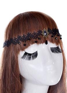 Women Hair Band Black Gothic Lace Head Band