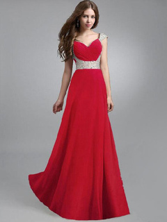 Sleeveless Chiffon High Rise Maxi Dress for Woman