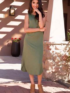 Jewel Neck T-shirt Summer Dress