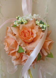 Charming Edge Curl Wedding Flower Ball