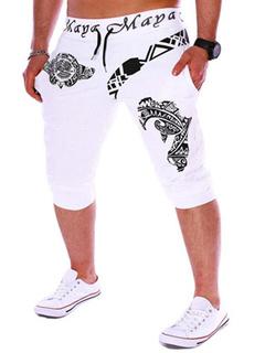 Men's Jersey Shorts Street Wear In White/Black/Blue