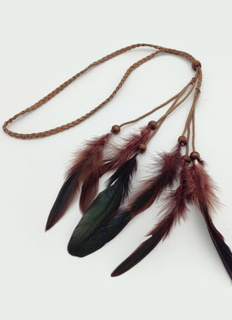 Ethnic Feather Hair Accessory