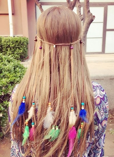 Layered Multicolor Feather Hair Accessory