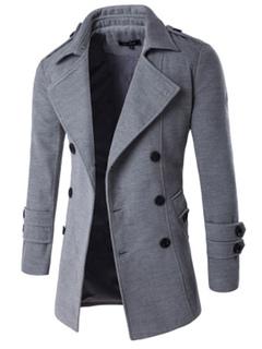 Giubbotto casual cotone monocolore colletto couverture con bottoni davanti 0cc12f54645