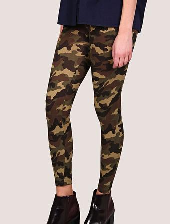 Women's Camo Legging Skinny Pants With Elastic Waistband