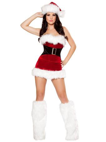 ec081ee0ef Disfraz de Mama Noel de poliéster roja