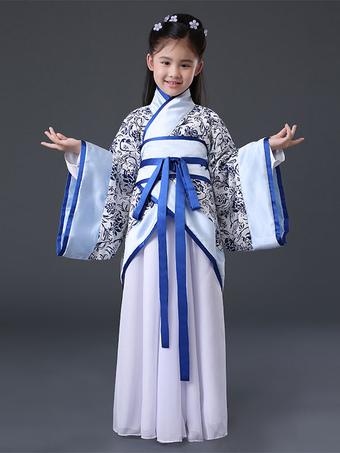 Halloween China Disfraz Chicas Azul Antigua Hanfu 2019 Disfraz Halloween 882fd4915e3b
